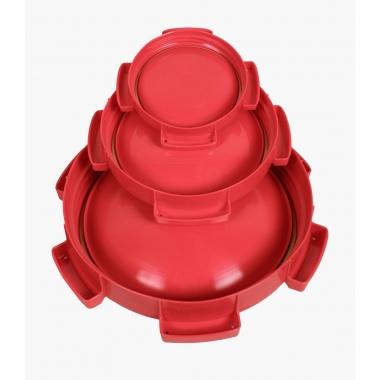 Ersatzdeckel rot f. 3 + 6 l Weithalstonne, rund