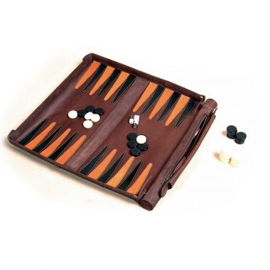 Leathersafe Roll & Play Packgammon