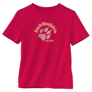 Jack Wolfskin Kids Hillside T-Shirt - indian-red / 140