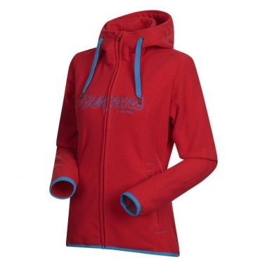 Bergans Bryggen Lady Jacket - red-ltseablue / L