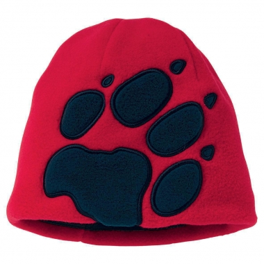 Jack Wolfskin Kids Front Paw Hat - tango-red / One Size