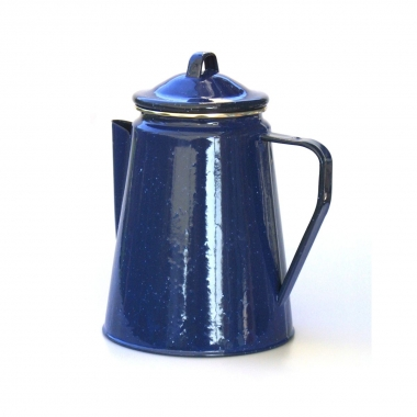 Relags Emaille Kaffeekanne 1,8 Lite, blau, ca. 8 Tassen