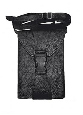 Leathersafe Shoulder Belt Wallet schwarz mit Maserung