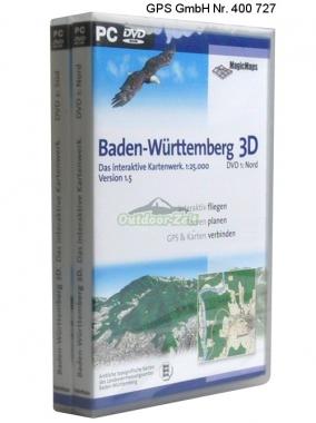 MagicMaps DVD Baden-Würtemberg 3D Set (2DVDs) V 2.0