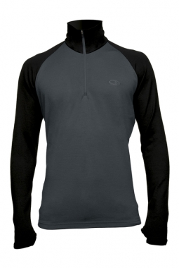 Icebreaker Tech Top Men - charcoal-black / XL
