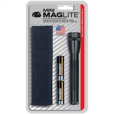 MagLite MINI MAGLITE AA Blister und Nylonhalfter - camouflage