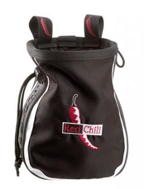 Red Chili Chalkbag Logo black