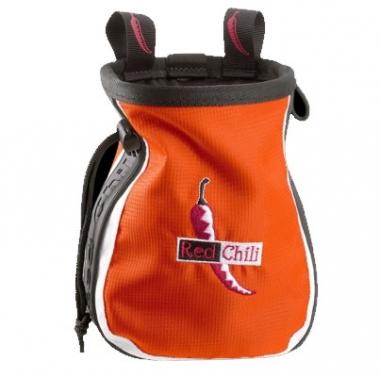 Red Chili Chalkbag Logo orange