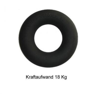 Handtrainer Klettern Squeeza Rings - schwarz Kraftaufwand 18 Kg