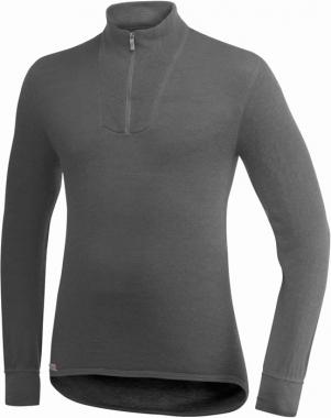 WoolPower Unterhemd Polo Unisex langarm - grau / L