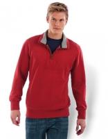 Men Zip Neck Sweatshirt Vintage, Größe: XXL