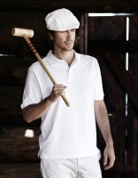 Herren Polo Piqué Shirt weiß, Größe: XXL