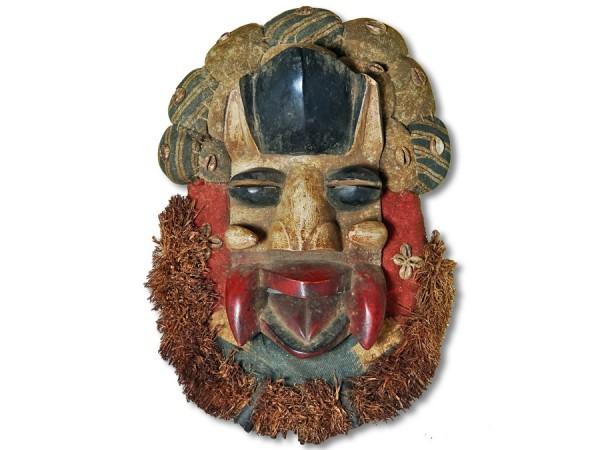 Affenmaske der Dan Liberia/Afrika 46cm