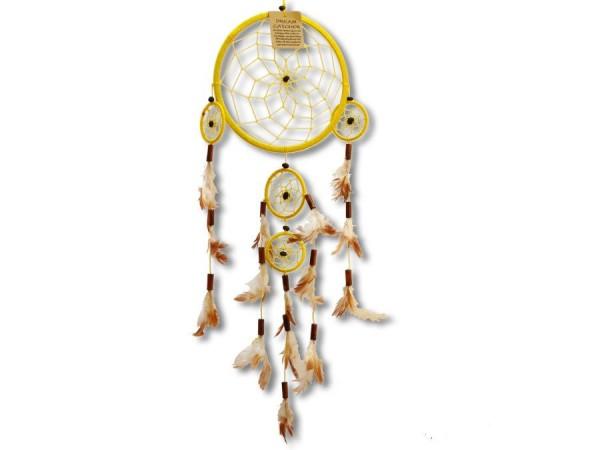 Dreamcatcher, Zwirn, gelb, 60cm