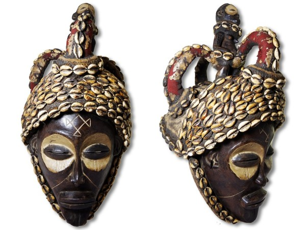 Maske Chokwe Kongo/Afrika 50cm