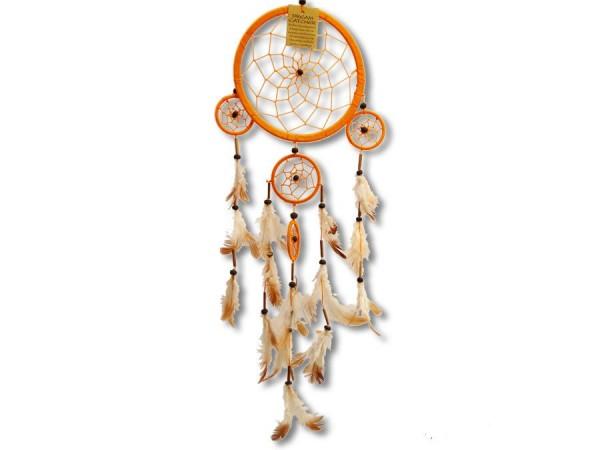 Dreamcatcher, Zwirn, orange, 60cm