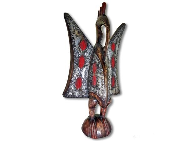 Kalao Vogel der Senufo Afrika Import Messing 01