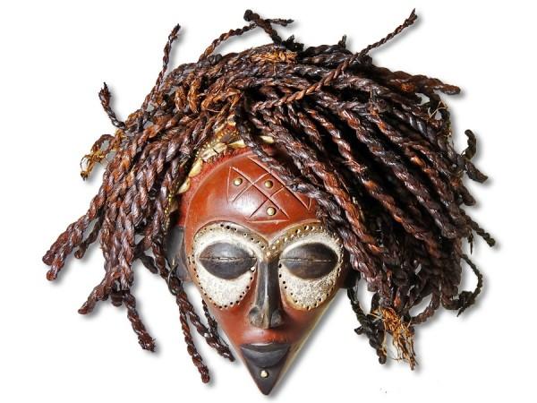 Rastamaske der Chokwe DR Kongo, Congo/ Afrika 30cm