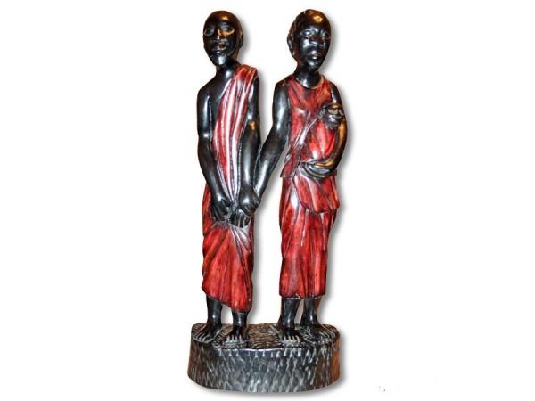 Paar Mann / Frau mit Kind Afrika 56cm