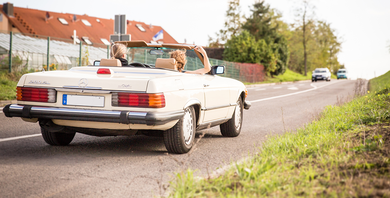 7 Tage Mercedes 380 SL mieten Schifferstadt