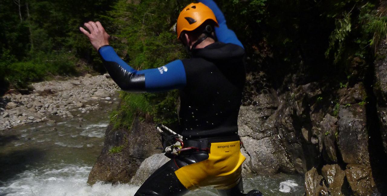Canyoning Tour Fortgeschrittene in Sonthofen, Allgäu