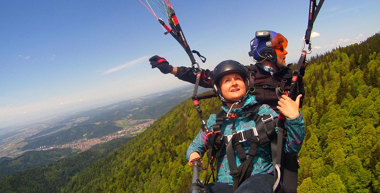 Gleitschirm Tandemflug Waldkirch