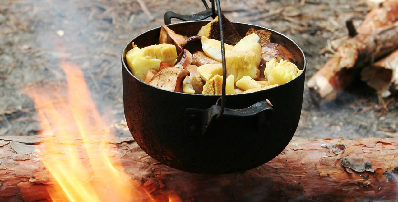 Outdoor-Kochen in Treherz im Allgäu