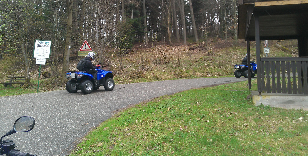 Quad Tour Schnuppertour in Hegau am Bodensee