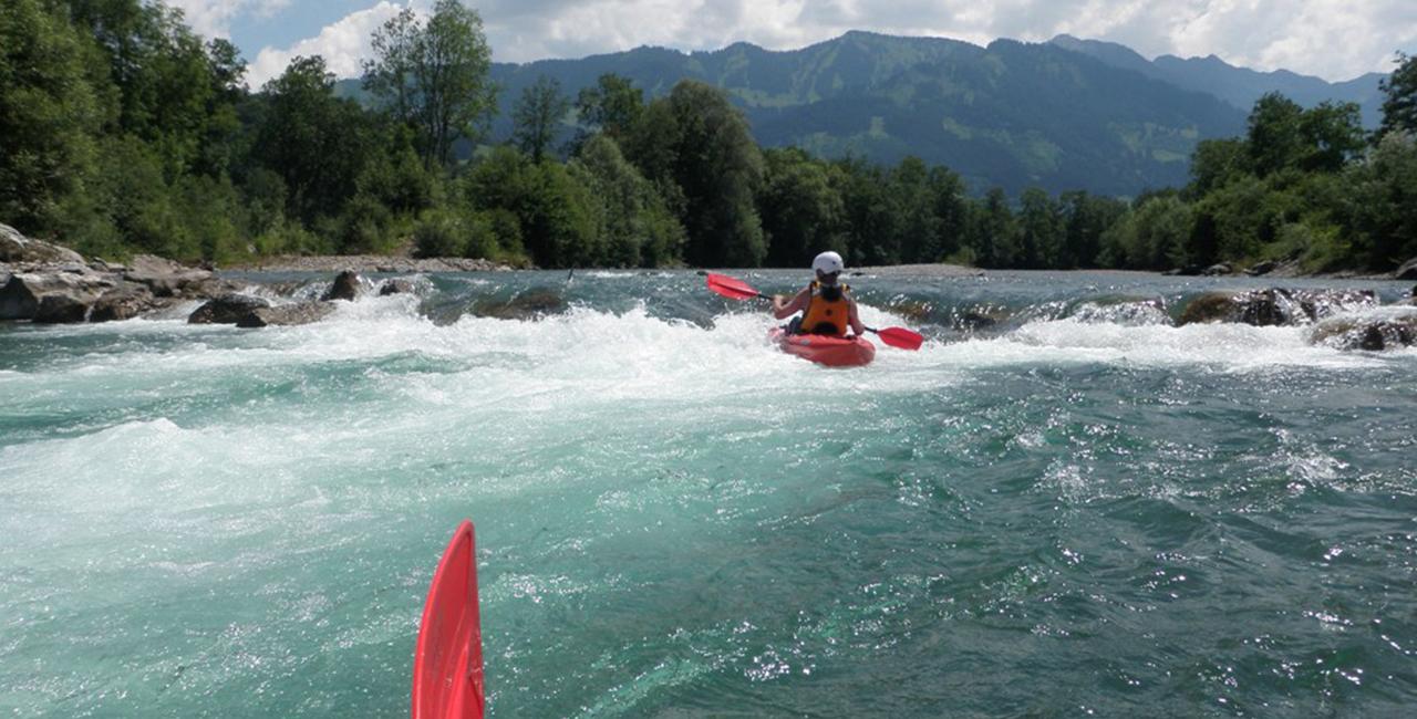 Safari Rafting auf der Iller in Sonthofen, Allgäu