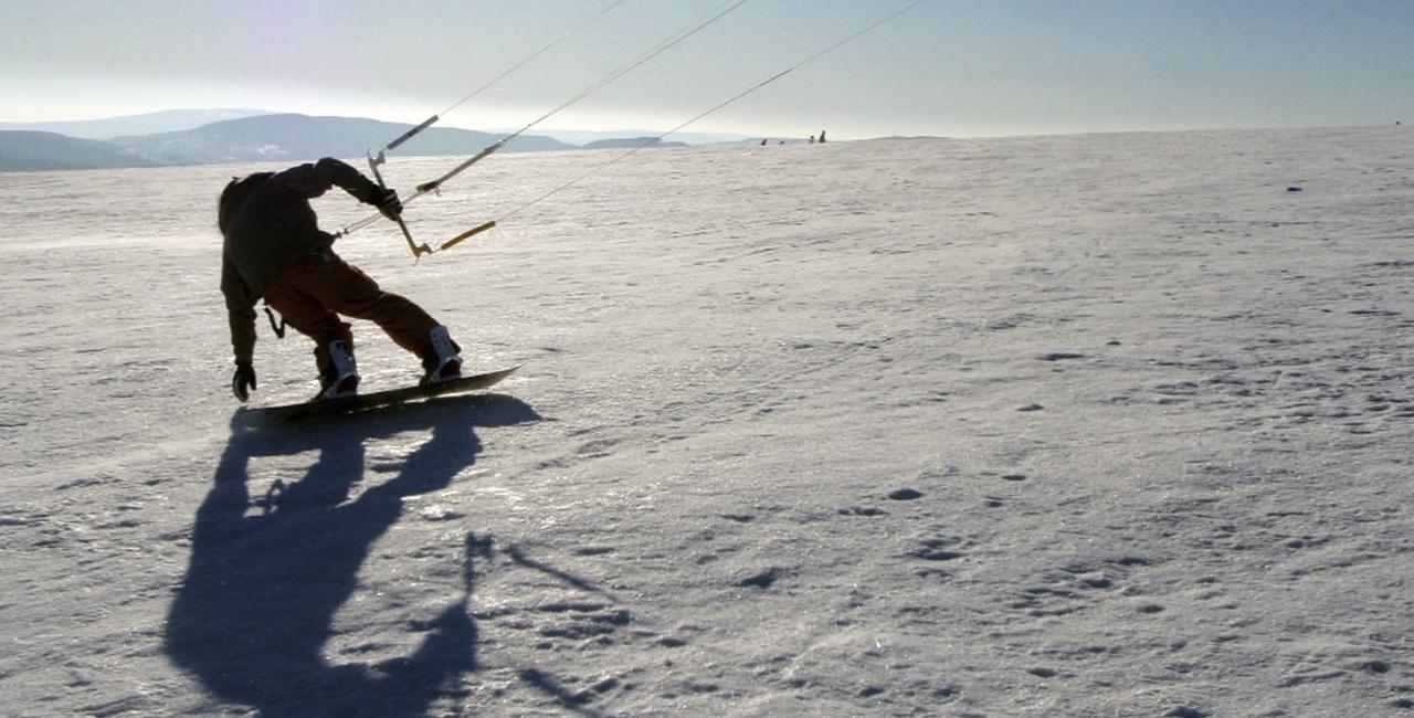 Snowkiten Tageskurs in Wallgau, Bayern