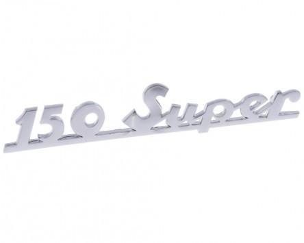 Schriftzug Aufkleber Sticker für Heck 150 super chrom