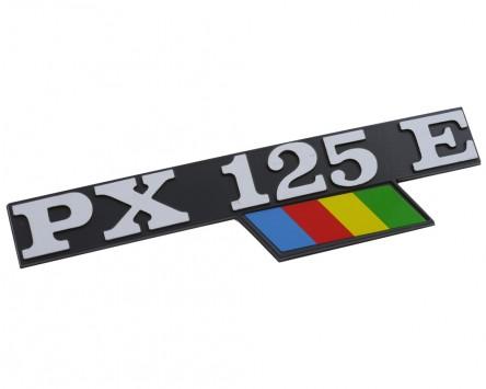 Schriftzug Aufkleber Sticker für Seitenhaube PX 125E schwarz/alu/bunt 135x33mm