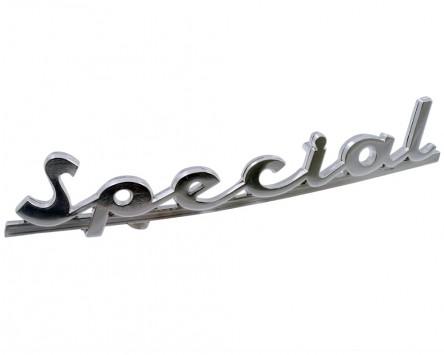 Schriftzug Aufkleber Sticker für Heck Special chrom 132x27mm