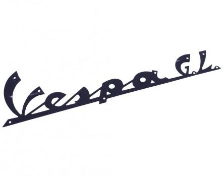 Schriftzug Aufkleber Sticker für Beinschild Vespa GL schwarz 165x45mm