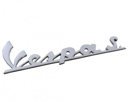 Schriftzug Aufkleber Sticker für Beinschild Vespa S chrom 150x45mm