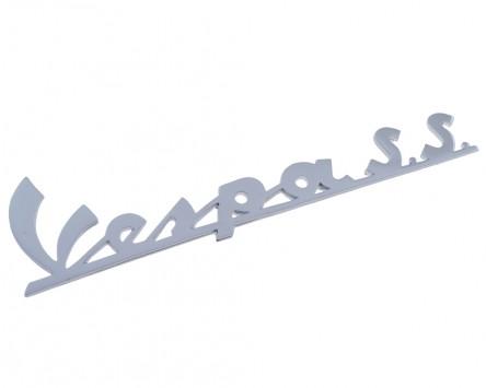 Schriftzug Aufkleber Sticker für Beinschild Vespa S.S chrom