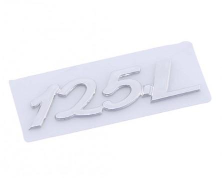 Schriftzug Aufkleber Sticker für Gepäckfach 125 L 50x13mm