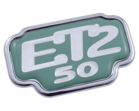 Schriftzug Aufkleber Sticker für Gepäckfach ET2 50 grün 33x55mm