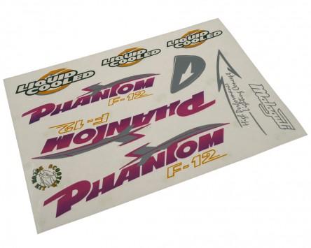 Aufkleber Set FALKO Malaguti F12 Phantom lila