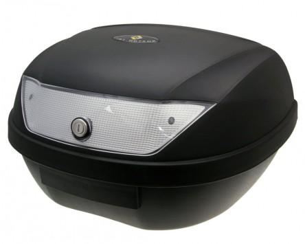 Top Case Koffer schwarz 51L / Reflektor weiß