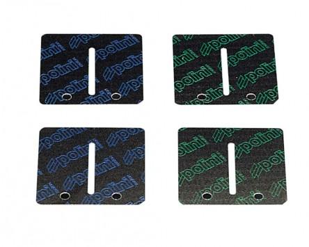 Membranplättchen POLINI Carbon 0,30-0,35mm 38x36mm