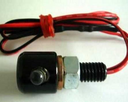 Leuchtschraube LED, Alu, schwarz, Kopf D= 16 x 15 mm, M8x1.25