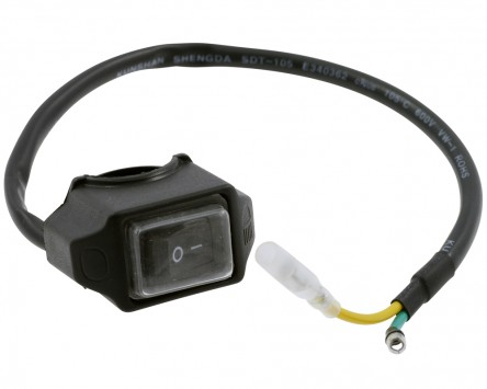 Schalter An/Aus ON/OFF, Spritzwasser geschützt - 7/8 Zoll, 22 mm Lenkermontage.