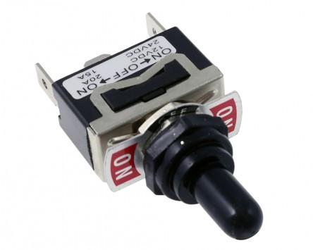 Schalter mit AN-AUS-AN Stellung (Spritzwassergeschützt) 12V/20A bzw. 24V/15A