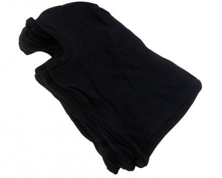 Sturmhaube 100% Baumwolle, schwarz, 10 Stück im Polybeutel