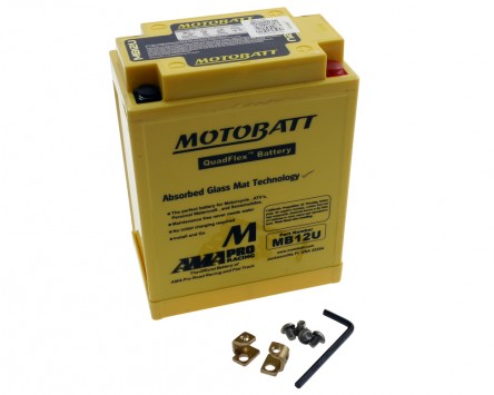 Batterie 12V 15Ah MOTOBATT MB12U 4-polig