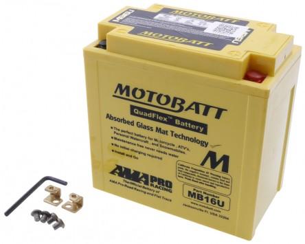 Batterie 12V 20Ah MOTOBATT MB16U, 4-polig