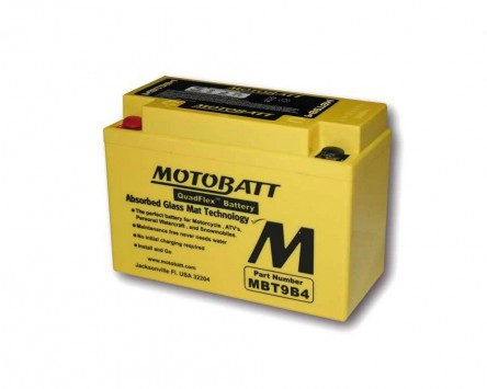 Batterie 12V 9Ah MOTOBATT MBT9B4