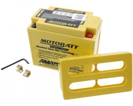 Batterie 12V 14Ah MOTOBATT MBTX12U, 4-polig
