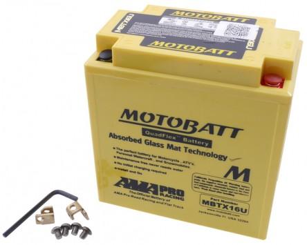 Batterie 12V 19Ah MOTOBATT MBTX16U, 4-polig